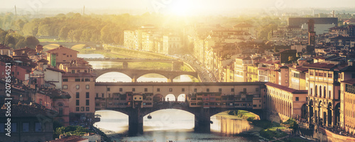 Foto op Aluminium New York Ponte Vecchio Bridge in Florence - Italy