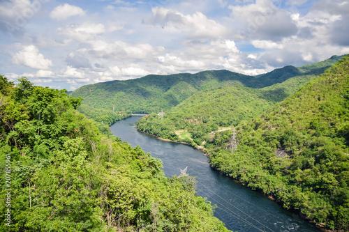 Foto op Canvas Pistache Electric power plant, bhumibol dam in Tak province, Thailand
