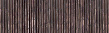 Panorama Of Bamboo Fence Background