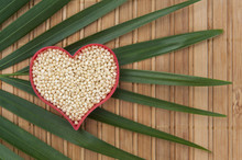 Millet Heart With Palm