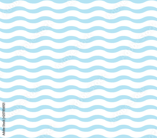 obraz dibond cute blue wave pattern