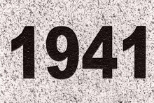 Numbers (figures) 1941 On A Marble Slab
