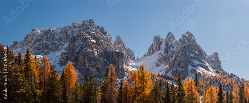 Foto op Canvas Zwart Landscape panorama with mountains