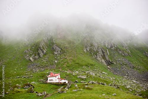 Lonely house in the valley Fagaras mountains, Transylvania, Romania, Europe Poster
