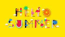 Hello Summer Background With S...