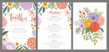 Wedding Invitation And Menu De...