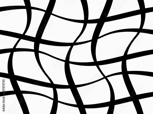 Fotografie, Obraz  Abstract geometric pattern with figures of wavy lines