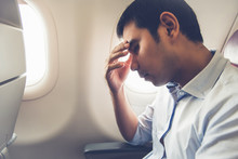 Male Passenger Having Airsickn...