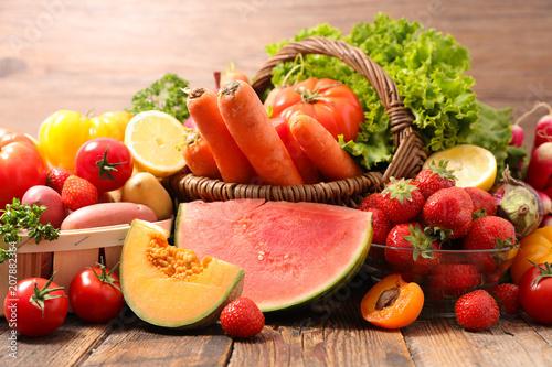 Fotografie, Obraz  assorted fruit and vegetable