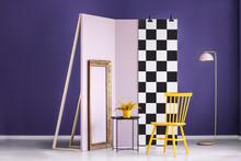 Studio Interior With Checkerbo...