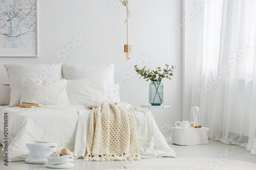 Fotografia  Spacious scandi bedroom interior