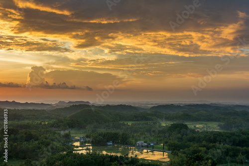 Foto op Plexiglas China Bohol island. Sunset landscape of the Philippines.