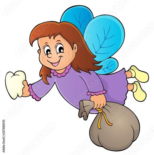 Deurstickers Voor kinderen Tooth fairy theme image 1