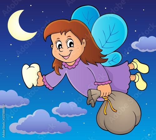 Deurstickers Voor kinderen Tooth fairy theme image 2