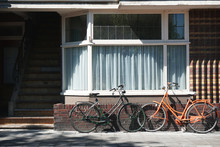 Two Dutch Bicycles Parked In F...