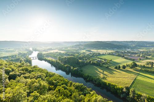Foto op Plexiglas Europese Plekken Panoramic view of Dordogne valley in France