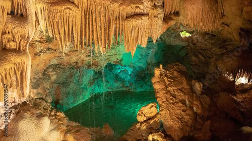 Interior view to Grutas Mira de Aire cave in Portugal Wallpaper Mural