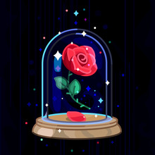 Vector Beauty And Beast. Rose ...