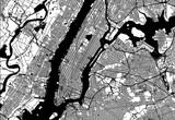 Fototapeta Nowy York - Map of Manhattan