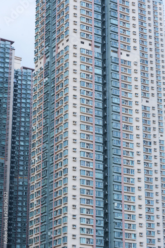 Photo  High rise residential building in Hong Kong city