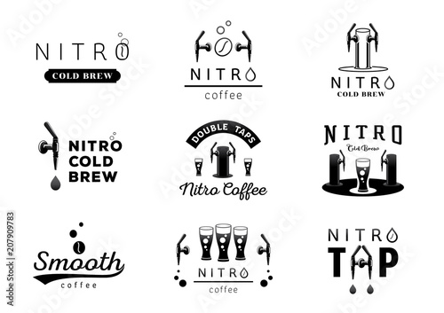 nitro cold brew coffee logo design Canvas Print