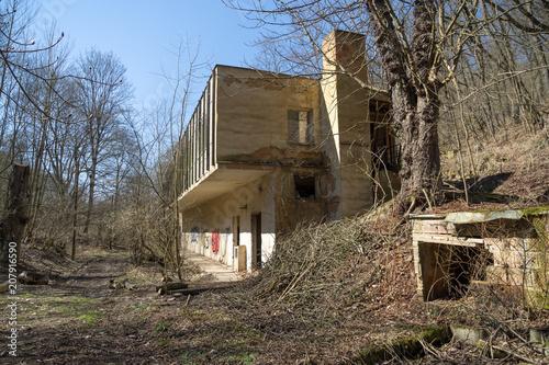 Foto op Aluminium Oude verlaten gebouwen Abandoned Nobel Factory, Prague, Czech Republic.