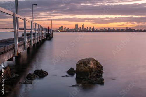 In de dag Noord Europa Jetty Skyline Photography at Sunrise