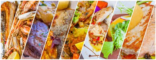 Obraz na płótnie plats cuisinés, gastronomie française