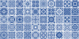 Fototapeta Łazienka - Blue Tiles Bundle