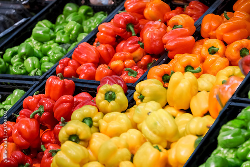 Fototapety, obrazy: Colorful peppers are in the box