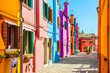 Colorful houses in Burano, Venice, Italy