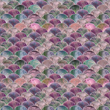 Syrenka skala fala japoński wzór - 207933706