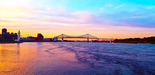 Sunset In Montreal Quebec Canada