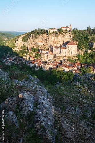 Foto op Plexiglas Europese Plekken Village of Rocamadour in Lot department in France.