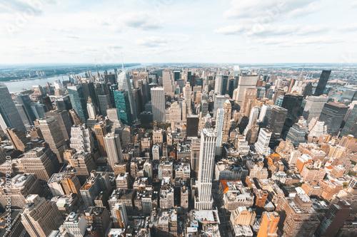 Poster New York City New York skyline aerial view