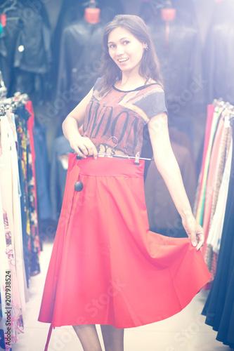 Garden Poster Beautiful woman shopping at fashionable shop