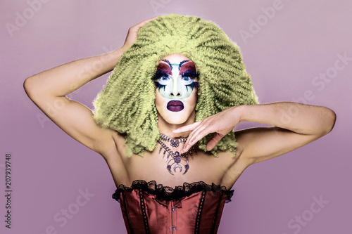 Spoed Foto op Canvas Crazy dog glamorous drag queen
