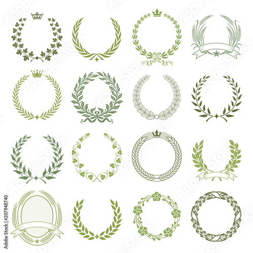 Photo  Laurel Wreaths Vector Collection