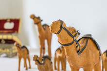 A Camel From Clay, Painted Ora...