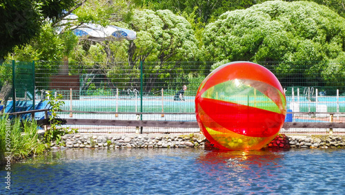 Fototapety, obrazy: Rest in the amusement Park.Roll in a ball on the water.