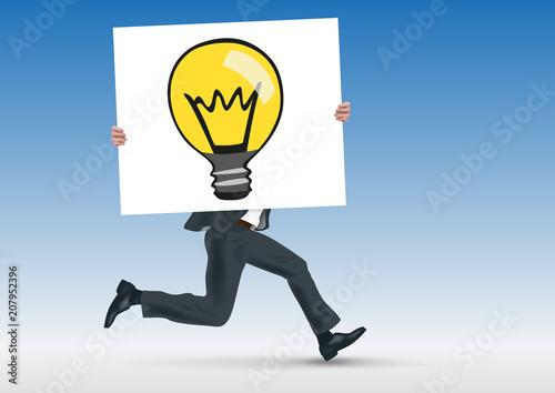 Photo idée - ampoule - concept - conception - créatif - présentation - pancarte - homm
