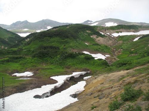 Fotobehang Wit Kamchatka. Harsh and beautiful region.