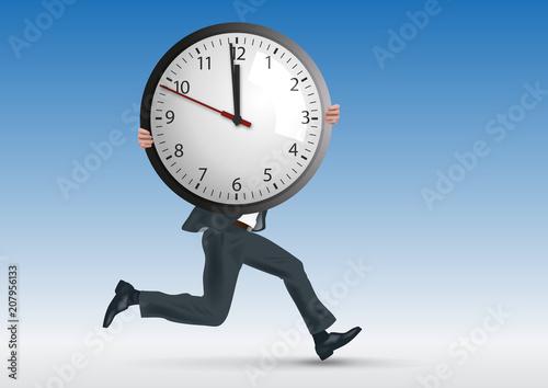 Obraz horaire - travail - stress - entreprise - performance - délais - heure - temps - salarié - employé - fototapety do salonu