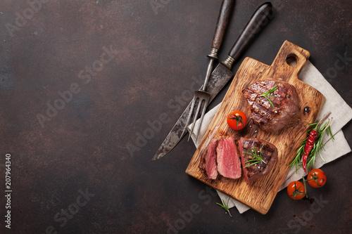 Canvas Print Grilled fillet steak