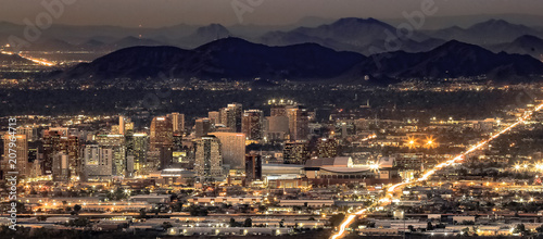 Spoed Foto op Canvas Arizona Phoenix Arizona Night