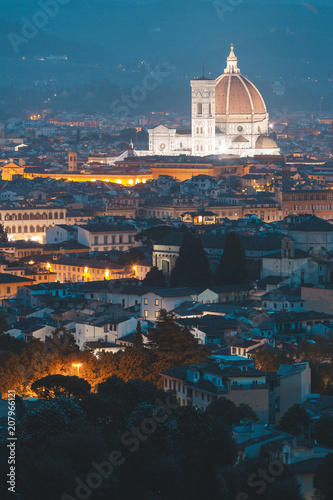 Foto op Plexiglas Europese Plekken Florence skyline and Cathedral Santa Maria del Fiore, Italy