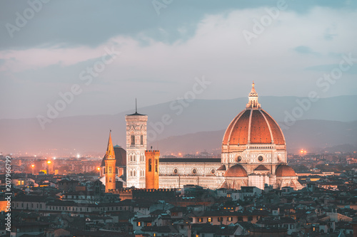 Foto op Plexiglas Florence Florence skyline and Cathedral Santa Maria del Fiore, Italy