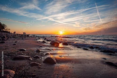 Fototapeta Plaża w miejscowości Rozewie obraz