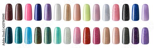 Cuadros en Lienzo Nail polish in different fashion color
