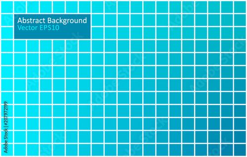 Staande foto Abstractie Art Blue tiles geometric background